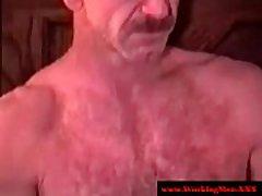Straight mature bears jizz on dudes face