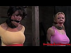 BDSM fetish sub Penny Barber ballgagged