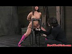 Tied up Mia Gold over the knee spanked