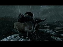 Skyrim - female Dragonborn defeated and violated on roadside
