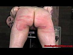 BDMS fetish sub Mollie Rose caned hard