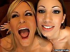 Two Hot Babes Loved Sucking 4 Cocks