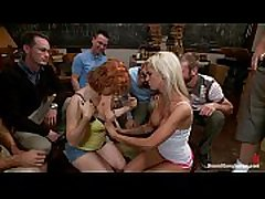Nerds tech these hot girls a rough, cum-soaking lesson