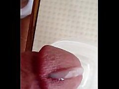 Cumshot through 6 gauge apadravya