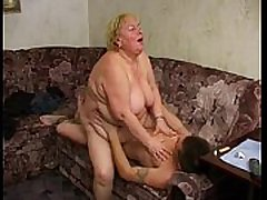 Large mature woman rapes young