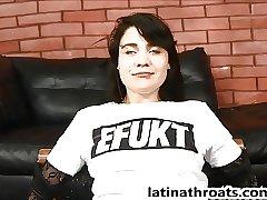 Extreme face fucking for petite Latina Whitney Gunns
