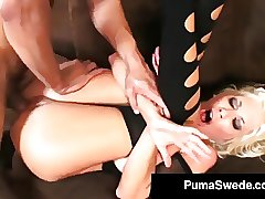 Sweden's #1 Sexindustrystar Puma Swede Gets Drilled By A Rock-hard Cock!
