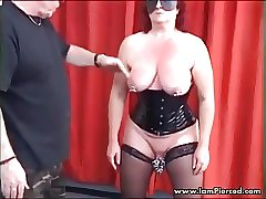 I am Pierced Gimp with labia piercing Assfucking with bottle