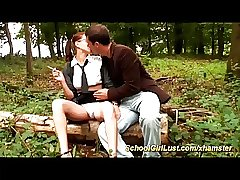 french schoolgirl anal in the wood