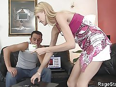 fucky-fucky with czech platinum-blonde teenage