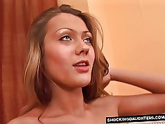 Skinny not my daughter Gets Shaved Pussy Fingerbanged