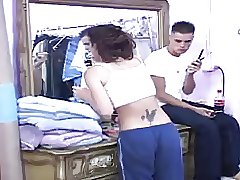 Brunette Chick Enjoys Fellatio & Rough Sex