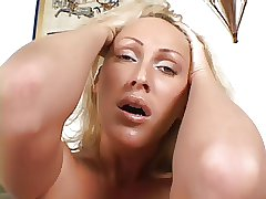 Bigblackcock Doublepenetration for a big-chested ash-blonde Cougar