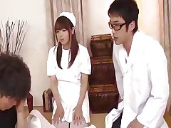 Japanese nurse with Two Guys