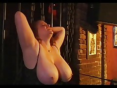 BBW Redhead Rusty Gets Some Titty Torture