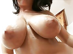 Oiled Up And Tit Fucked