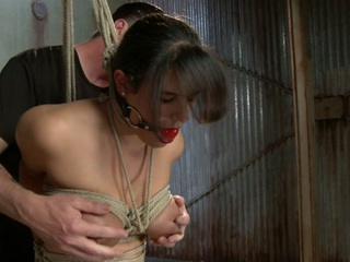 Hard bodied, Penny Barber shows up to be punished and have her pain and pleasure controlled by The Pope. She is quick to try and escape to her happy sub-space hiding place, but he snaps her back to reality with brutal torment. Her pussy and body pay the price for her indiscretions.