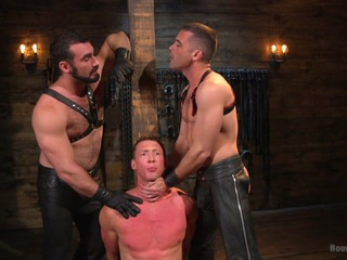 Jaxton Wheeler & Lance Hart & Pierce Paris in Training Day - Dom In Training Gets To Break In A Ripped, New Slave - BoundGods
