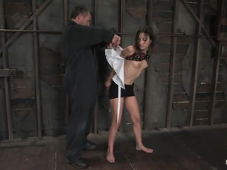 Hogtied members know what a category 5 suspension is. Amber Rayne is back and she just did a category 5 shoot. 4 out of 5 ties were worthy of the prestigious Category 5 label. Not only is Amber tough, sexy and beautiful but she also has some of the most intense orgasms we have ever seen. There are some brutal, punishing and unique ties in this update. Add on the massive orgasms and the sexy shaved pussy of Amber Rayne and we have a Hogtied classic.