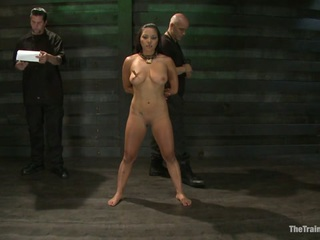 A Special Request From Derrick Pierce Was To Train His Slave For Him. Adrianna Is Very New To Bdsm And Has A Lot To Learn. He Has Been Working With Her, But She Is Far From Slave Material Right Now. We Give Her Basic Guidelines Knowing That She Will Be Overwhelmed With Too Much In The Beginning. She Learns Quickly That What Happens At Home In Private And What We Do Here Are Totally Different. Derrick Has A Very Sadistic Side That She Finds Out About Through Sexual Training. There Is Brutal Face Fucking And Intense Fucking Throughout Her First Day As A Trainee.