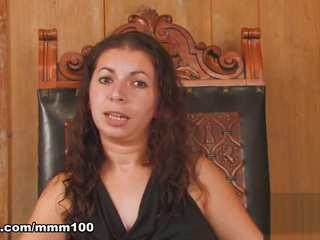 Kelly Toma & Inter in Pretty Arab Brunette Kelly Toma Doing A Hot Striptease  - MMM100
