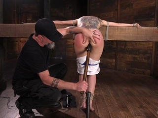 Roxanne Rae & The Pope in College Girl/Pain Slut Suffers In Extreme Bondage & Brutal Domination - HogTied