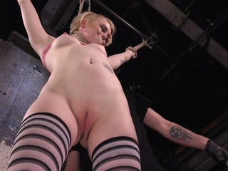Anna Tyler & The Pope in Blonde Pain Slut In Brutal Bondage And Suffering Grueling Punishment - HogTied
