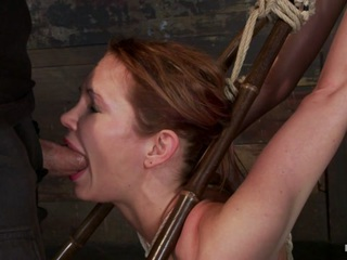 Massive Boobs, A Category 5 Suspension & Skull Fucking.  Brutal Bondage, Devastating Orgasms.  Art - HogTied