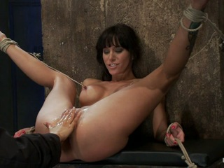 Sexy Milf Is Bound Down, Suffers Hard Caning & Foot Tortureextreme Nipple Pain & Brutal Fisting - HogTied