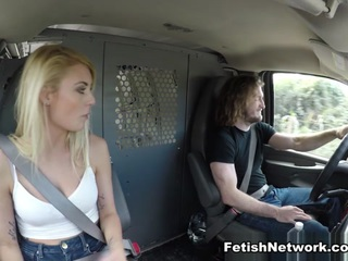 Stranded Blond Broken Sexy blond teen Victoria Stephanie has somehow wound up stranded in the backwoods. After hours of trekking in the sun she catches a break when Brick arrives in his white van. He agrees to give her lift, but only in exchange for the universal currency: sexual submission. Soon Victoria's tied up and brutally fucked by her new master. He hammers her slutty tight teen pussy anyway he wants then dumps a huge load on her face.