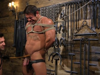 Dominic Pacifico,Draven Navarro in Bodybuilder Draven Navarro Takes Pain, Extreme CBT, and Gets Fucked - BoundGods