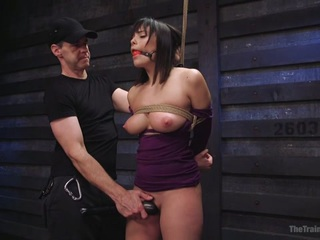 Big Tits, Tight Dress, High Heels All Tied Up In Rope Bondage. The Stunningly Gorgeous Violet Starr Is Helpless And Ready To Have Her Curvy Firm Body Frisked From Head To Toe. With A Ball Gag In Her Mouth, There's Nothing She Can Do But Have Her Huge Natural Tits Felt Up Like A Little Slut, Her Big Round Firm Ass Slapped Red, And Her Sensitive Nipples Tormented. When The Flogger And Cane Come Out, Her Training Truly Begins. Her Big Tits And Wet Pussy Are Brutally Hit Causing Screams Of Pain Which Violet Learns To Turn Into Pleasure For Her Orgasms. When She Forgets Her Lessons Her Feet Are Caned And Punished, But She Will Learn. She Will Learn To Take A Huge Cock Deep Down Her Throat, And Have Her Pussy Pounded With Hard Fucking. All This Pain Will Turn Into Pleasure As Her Body Is Filled With Orgasms When Her Hair Is Pulled And Her Pussy Is Slapped Red