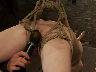 Sexy Girl Next Door Bound Into A Brutal Back Arch From Hell.Made To Cum Like A Common Slut. - HogTied