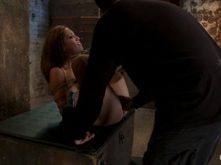 Audrey Has Suffered Through 3 Brutal Scenes, Now She Gets Brutally Fucked By Isis While Face Fucked. - HogTied