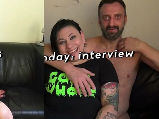 Tattooed plumper dominated and fed with dom spunk