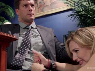 Mona Wales  Ramon Nomar  Gina Valentina in 18 Year Old Submissive Secretary Takes Her Punishment  - TheUpperFloor