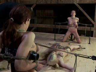 Today's Hogtied update is a cut above the normal non-feature scenes we release. During our trip to New York, the weather pushed us indoors for one of our shoot days, so we shot this amazing 3 girl scene.