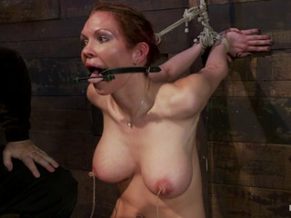 Rain DeGrey has elevated herself to one of the most desired bondage models on the planet. She is flexible, tough, and beautiful, with amazing tits and huge nipples!