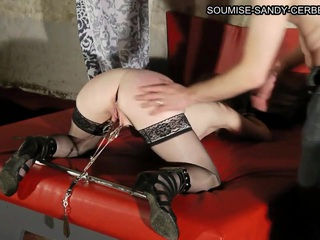 Mature and very horny French slut in stockings enjoys a kinky BDSM treatment by her lover and it looks awesome in this HD video.