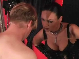 Sexual humiliation of a slave by a cruel mistress