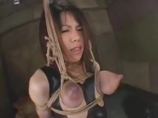 Sexy tied Asian slut gets her breasts tortured and milked by her master. She is so submissive and she does what he says.