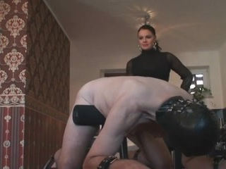 Really smoking hot dominatrix is spanking her sissy serf and she does it so good that it can hardly get any better.