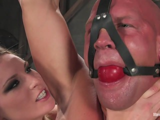 Mistress Harmony Rose takes down the big man in this amazing update. Christian has never been hit with a flogger or dominated like this, and Harmony puts him through his paces with a brutal strap on scene and whipping before fucking his huge hard cock dry, feeding him his hot come, and leaving him desperate for more of her fierce domination.