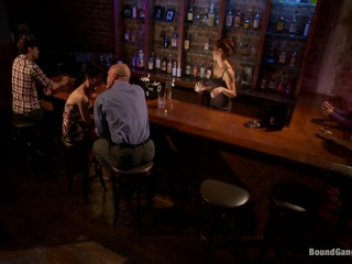 Elise Graves gets herself into some serious trouble when she meets up with a guy she barely knows off the internet. After meeting at a bar and going to his place to fuck she finds herself locked in a basement where she is used as a sex toy for multiple guys to fuck. One after the other men come into the room to use this poor helpless slut. Finally a group of four of them come in at once and completely work her over. Double penetration, rough sex, bondage, face fucking, caning, clothespins, and more!!! WARNING: THIS FANTASY ROLE-PLAY MOVIE PORTRAYS VERY ROUGH SEX AND INTENSE BONDAGE, HARD ANAL AND BRUTAL FACE FUCKING. THIS CONSENSUAL FANTASY MOVIE IS NOT FOR THE FAINT OF HEART.