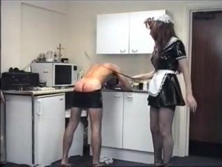 Vintage Cruel Mistresses beat their lowly domestic slaves