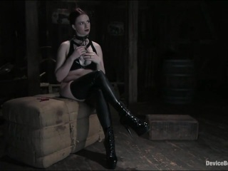"Claire is a world renowned BDSM player, a switch with a history of working with cyd that spans several years and multiple companies. From a scene where she asked cyd to punch her to orgasm with lead weighted gloves to another where he pierced her with over a hundred needles and attached them to tension rods, immobilizing her in a 360 degree sphere around her, it's clear she gets off on extreme restraint and severe bondage. She smiles when she hears what her shoot has in store. Claire projects strength and self-confident in her actions. She is disciplined in dealing with pain and discomfort. cyd likes nothing more than peeling back her protective layer bit by bit, to where the poker face melts off and the vulnerability runs wild. A seductive latex striptease is follwed by an examination of some new piercings. Claire is made to lock herself in a collar and handcuffs. Her movements are confident and it is obvious that she wants to please. She is chained to the ceiling with her neck and wrists in a fiddle. She struggles in her heels to get away from the cane, her ankles held wide apart by a spreader bar. cyd offers to stop the pain if she can stay still for only ten strokes, but soon another bargain is made - relief in one spot in exchange for more pain in another. The removal of her shoes makes her predicament more difficult to endure, but Claire is stubborn. She claims it ""doesn't suck enough yet."" Music to cyd's ears, after working with an endless list of porn girls with no submissive or masochistic interest in BDSM at all. Afterwards, her reward is the vibrator and her breathing becomes rasping gasps and screams as she comes. Claire's eyes show only her will to endure as she struggles to make it through her ordeal astride a wooden pony and she manages to come hard from an amazing chest slapping session. Another uncomfortable contortion, followed by a flogging, a butt plug and inflatable dildo complete this set. Although she screams and begs, Claire will never tell you to stop."