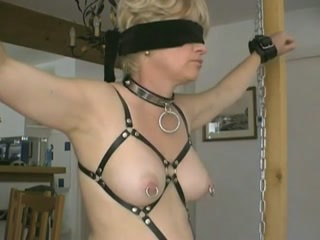 Tears turn me on and this blonde fem slave screams as the rather blunt prick is brutallypushed trough her nipple flesh