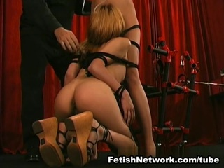 The good news is that Jade is one of the slaves who are going to get their tight round asses spanked but there is a fantastic news as well which means that she is going to bring her girlfriend with her as well. She is from Asia and we all know how much oriental sluts love to be dominated with cruelty by real masters. She is pushing her tight sexy butt out and getting ready for some ass whipping action, and there is no doubt that she is going to get what she has been asking for. Their arms are tied up and there is no way that they are going to move, and that is the beauty of playing BDSM games with this cruel master. He knows how to make them get off fast and hard and since that includes a little bit of pain, he is going to use long chains as well. It is hard to tell which one of the babes is screaming louder but one thing is for sure, they both love to feel the pain and play nasty bondage games all night long.