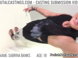 Sabrina Banks, a sexy girl meant for the camera, is ready to become the supermodel of the world! She sent her audition video to the best talent agency, college Castings, and gets a call back. She'll do anything to get what she wants. Her hopeful new agent wants to take a few photos of her in her underwear. When he tries to get her naked, promising it will help her land job after job, she grabs her clothes. So he makes it clear: If she doesn't do what he says, she won't become a model. Now, to even be considered, she must endure his love for BDSM, domination, rope bondage, deepthroat bj, fingering, squirting, spanking, slapping and rough sex. She leaves with a cum shot on her face. Will she be famous? Maybe . . . Maybe not.