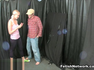 Vanessa Cage & JC Simpson Play with their Bound Sex Slave - MeanHandJobs